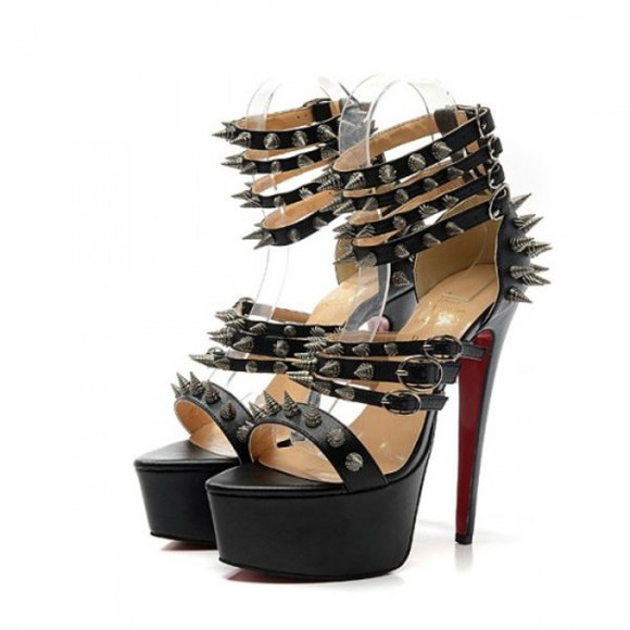 shoes spikes fashion black red sole shoes red bottom shoes red sole heels cheap red bottom shoes bottom shoes red