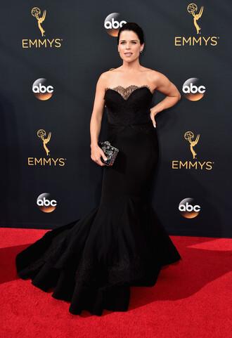 dress neve campbell gown mermaid prom dress mermaid dresses prom dress black dress black emmys 2016 red carpet dress clutch