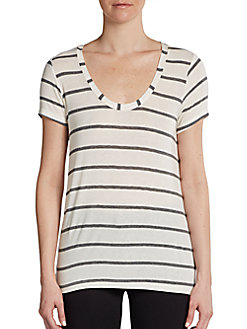 Boyfriend Striped Tee - SaksOff5th