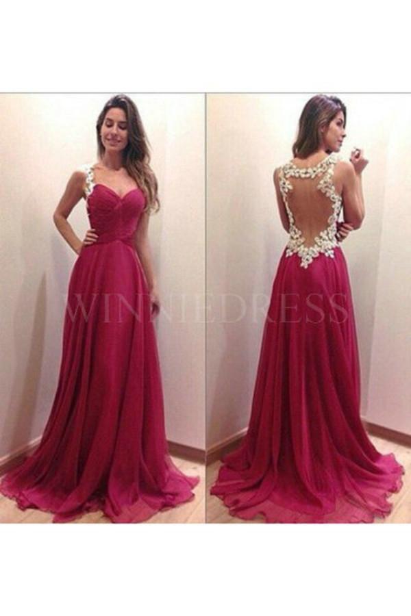 Dress Prom Dress Long Prom Dress Burgundy Dress