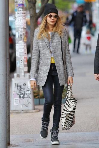 shoes cara delevingne jacket