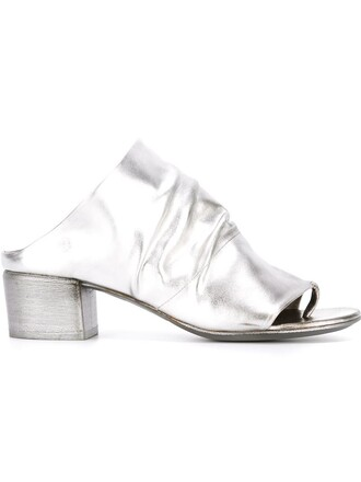 open mules grey shoes