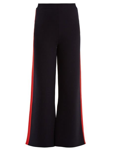 Stella McCartney pants track pants cotton navy