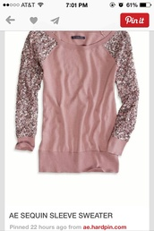 sweater,light pink,sequins