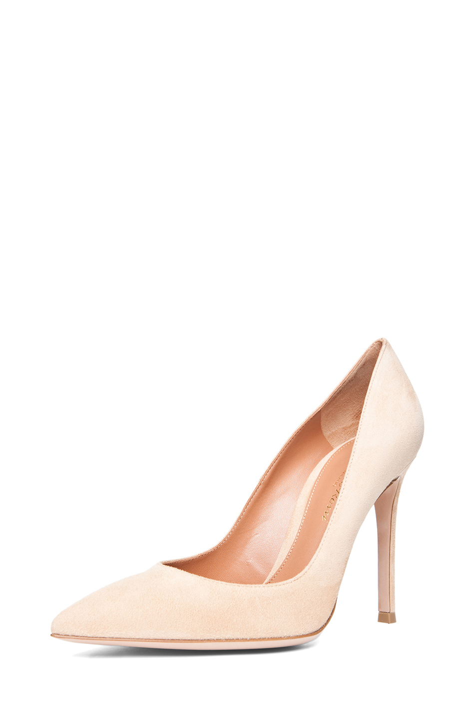 Suede pumps in nude