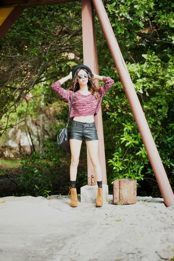 kqns style hat sweater shorts shoes sunglasses