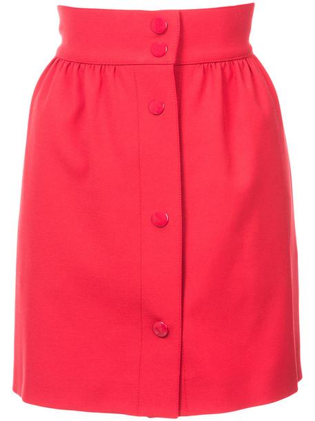 RED VALENTINO skirt mini skirt mini high waisted high women spandex red