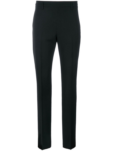 women black wool pants