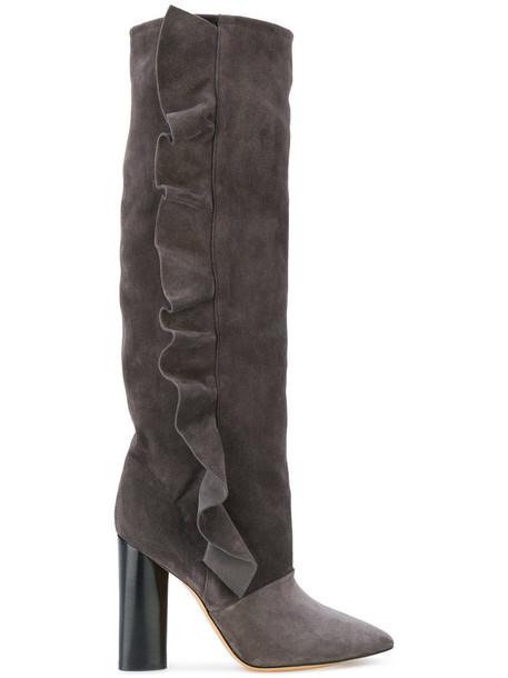 Iro women suede grey shoes