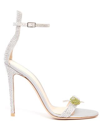 embellished sandals satin light blue light blue shoes