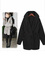 Fitting dolman thickened hooded solid color woolen long coat : kisschic.com