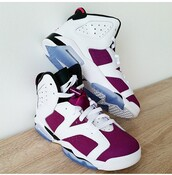 shoes,air jordan 6,jordan,js,js 6,burgundy,white,sneakers,sneakers addict,addict to shoes,baskets,chaussures,blue,air jordan,shoes addict