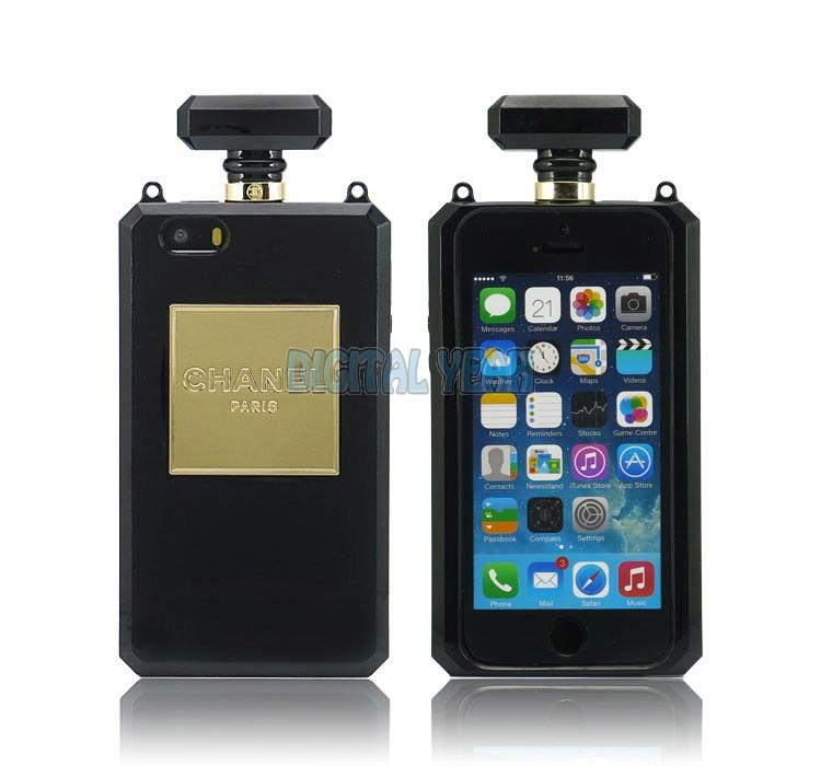 iPhone 5S Case iPhone 5 Case Chanel Minaudière NO.5 Perfume Bottle Case Black - digitalyeah.com