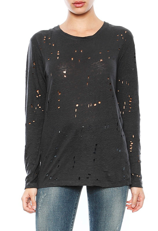 Iro Marvina Long Sleeve Destroyed T Shirt | SINGER22.com