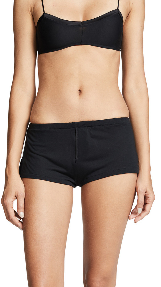 Kiki De Montparnasse Intime Lounge Shorts in black