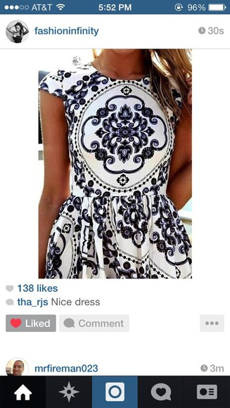dress navy blue white dress