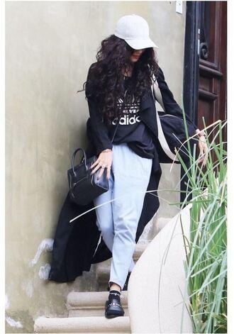 sweater vanessa hudgens sweatpants adidas cap slide shoes shoes