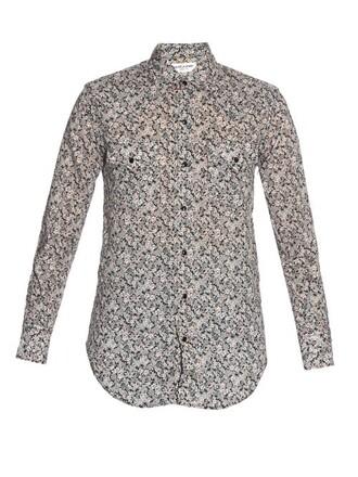 shirt floral cotton print top