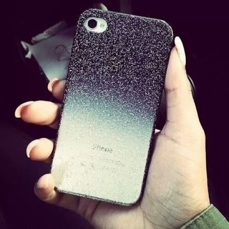 phone cover glitter iphone app ipod phone touche ombre glitter case black and white glitter ombre nails nail fake nails camera white grey black gray silver cases samsung samsung galaxy nokia iphone 5 case iphone 4 case iphone cover iphone case iphone cases