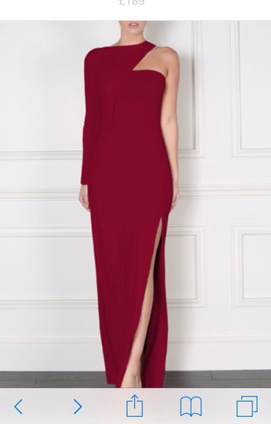 dress burgundy maxi dress