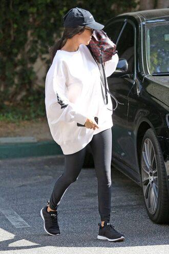 sweater kourtney kardashian leggings sportswear sneakers cap oversized