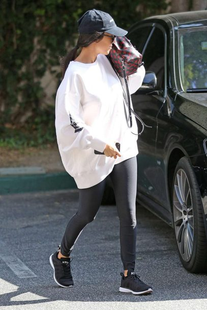 Kourtney Kardashian S Outfit Is A 240 Yeezy Sweater Sold