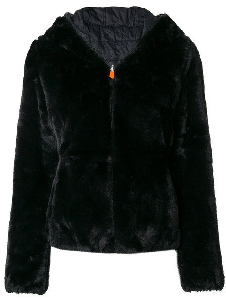 Save The Duck jacket hooded jacket women black