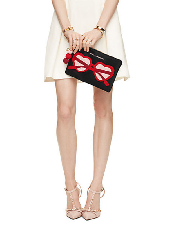 make-up kate spade red red sunglasses all red wishlist makeup bag valentines day gift idea heart heart sunglasses love
