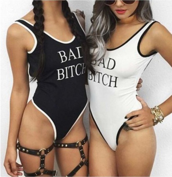 e2ad503000e31 swimwear, girl, girly, girly wishlist, black, white, one piece ...