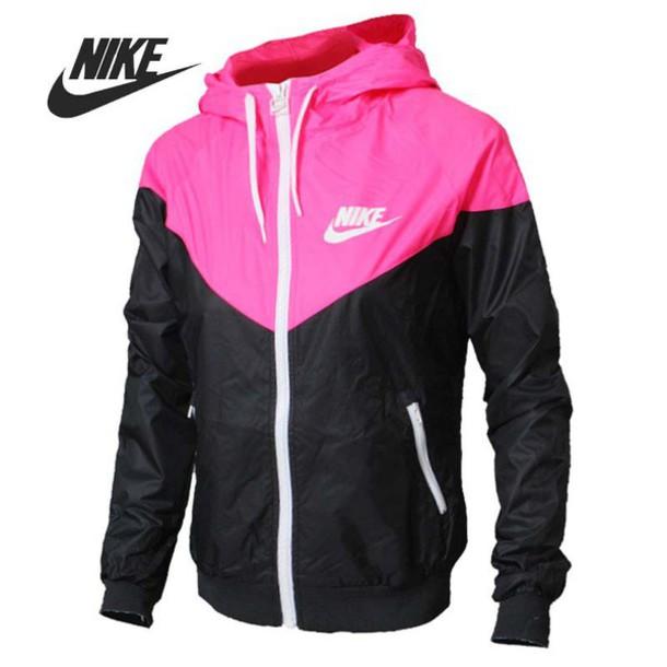 16c601a44f73 jacket nike cute pink white black nike windbreaker