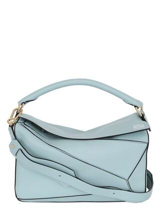 bag leather light blue light blue