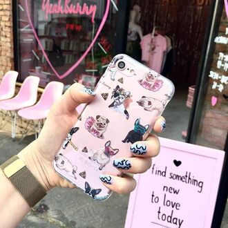 phone cover yeah bunny dog frenchie pugs iphone8 iphone7