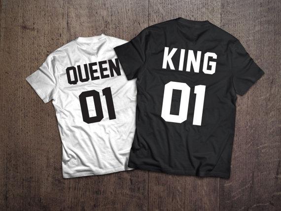4b1ea64320 couple t-shirts KING QUEEN