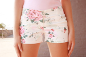 shorts,floral,pastel,cute,flowers,high waisted,flowered shorts,High waisted shorts,denim,high waisted denim shorts,denim shorts