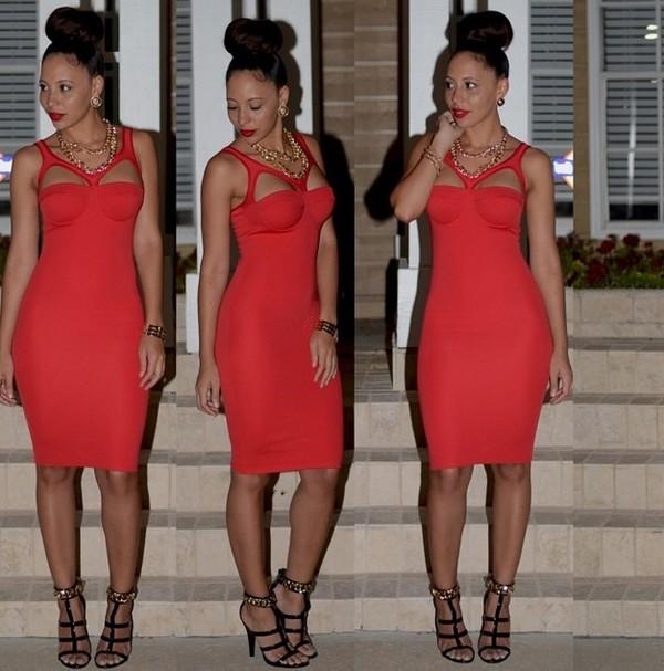 red dress sexy dress dress