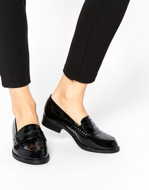 shoes, wide fit, black shoes, loafers
