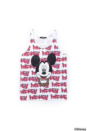 GRAFFITI TANK TOP / MICKEY / RED MULTI - JOYRICH Store