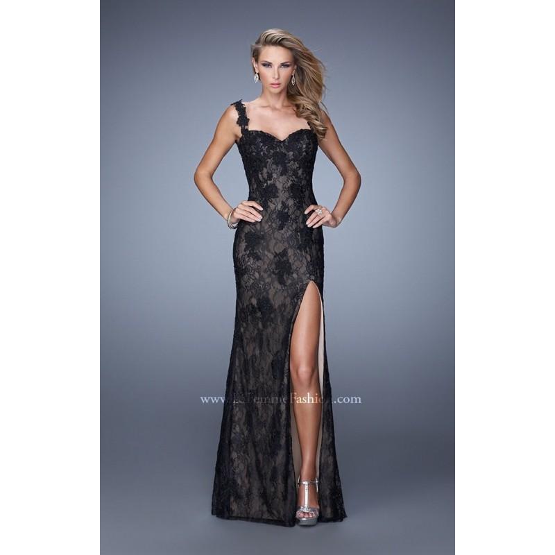 Black La Femme 20641 - Lace Open Back Dress - Customize Your Prom Dress