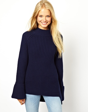 ASOS | ASOS Jumper With Rolled Back Sleeves at ASOS