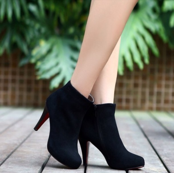 Shoes: heels, ankle length boots - Wheretoget
