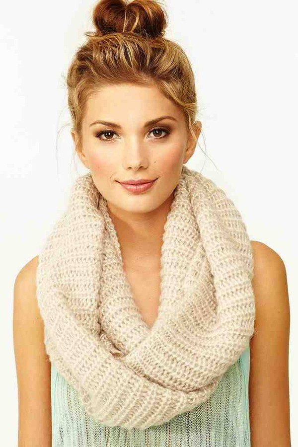 scarf cream infinity scarf