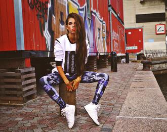 leggings black milk pants black streetstyle swag top sweater white street adidas wings