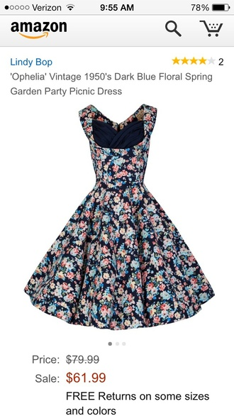 dress lindy bop navy ophelia pin up swing rockabilly vintage