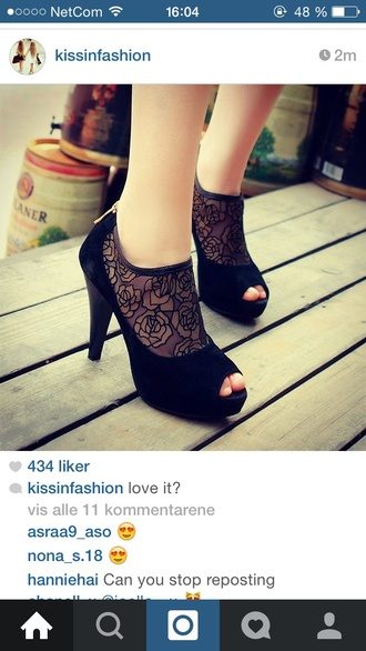 shoes style cute shoes fashion flowers black  high heels black heels high heels high heels cross ch girly girl beautiful