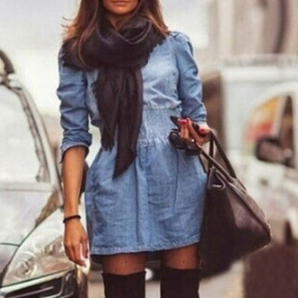 dress denim dress