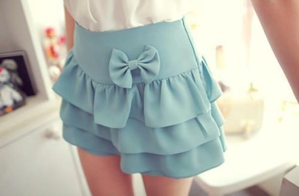 blue skirt skirt