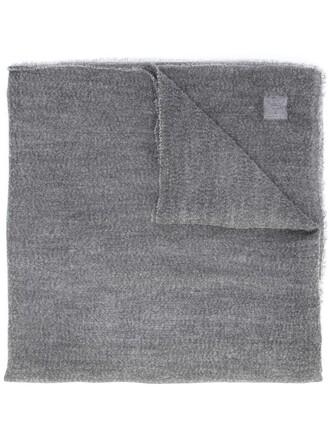 women scarf silk grey