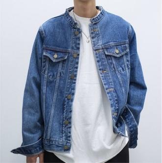 jacket grunge denim jacket grunge jean jacket blue jeans white white t-shirt shirt t-shirt 90s jacket 90s style