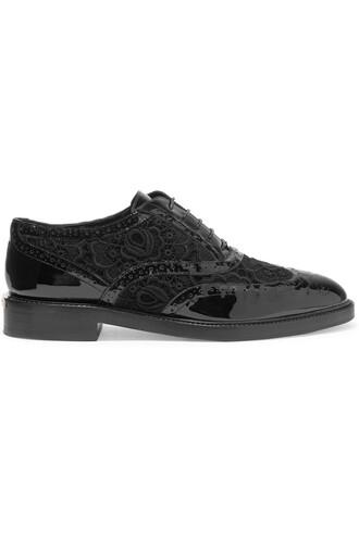 london lace leather black shoes
