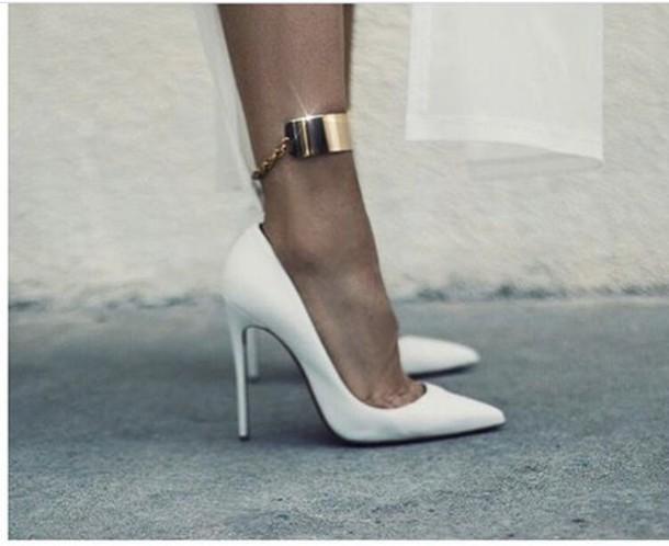 shoes heels white pumps high heel pumps